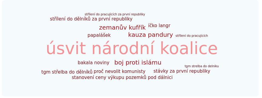 WebMedea Masaryk negativní témata
