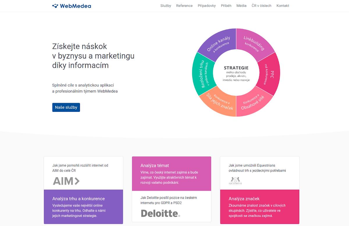 webové stránky WebMedea services