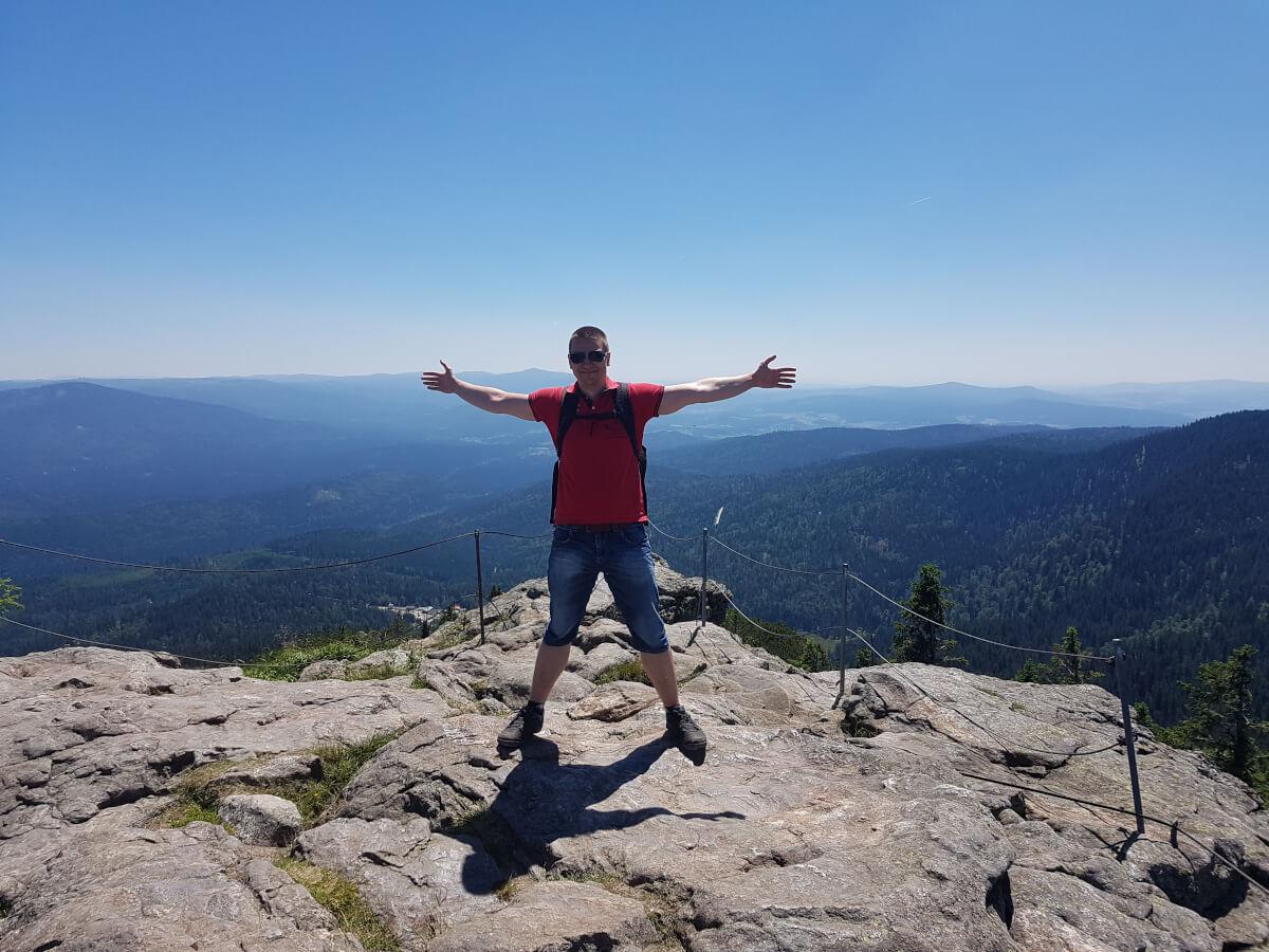 Na vrcholu Velkého Javoru