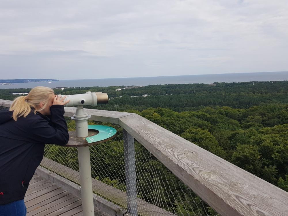 Stezka korunami stromů s výhledem na Rujánu